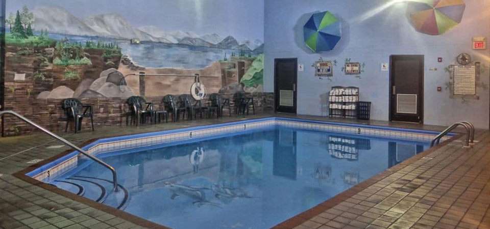 View of the Indoor Heated Pool at the Baymont Inn and Suites in Pigeon Forge Tn