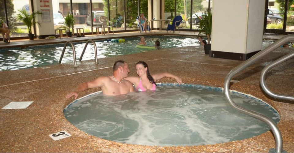 View of the Indoor Hot Tub at the Country Cascades in Pigeon Forge Tn