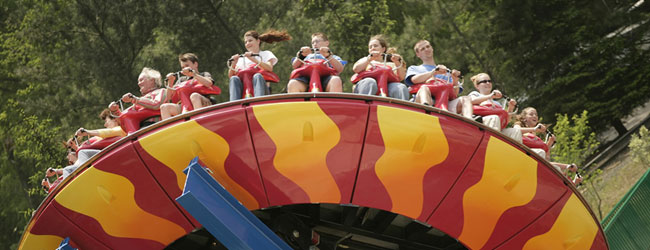 Hold on to your stomach as your ride the Dizzy Disk at Dollywood wide