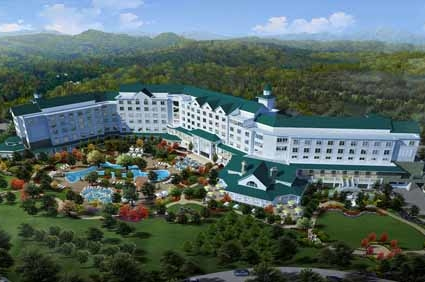Back Top View Of The Dollywood Dreammore Resort In Pigeon Forge Water Park Hotel