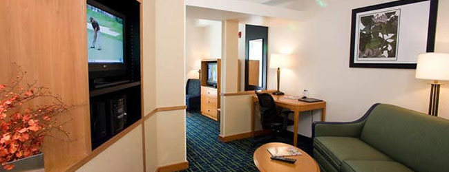 View of the Executive King Room at the Fairfield Inn and Suites Gatlinburg North wide