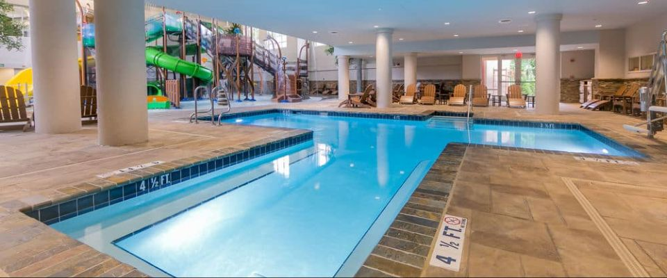 View of the Indoor Heated Pool at the Holiday Inn Express Gatlinburg Downtown