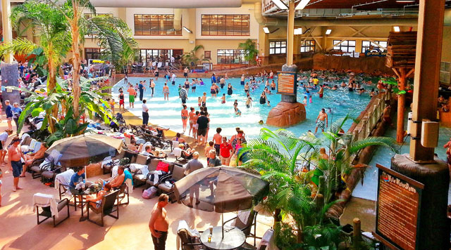 View Of The Great Wave Indoor Pool At Wilderness Smokies
