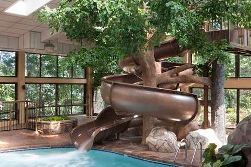 Beautiful Indoor Pool With Slide Aquatic Center Newark