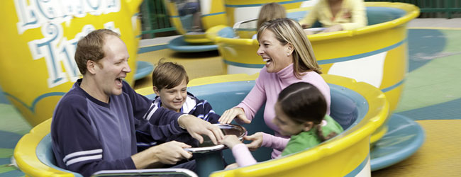 The Lemon Twist takes the family on a spin around a giant lemonade pitcher at Dollywood wide