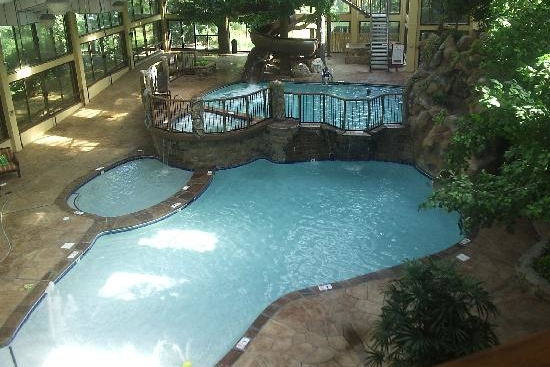 View Of The Double Tier Indoor Pool At Park Vista Gatlinburg