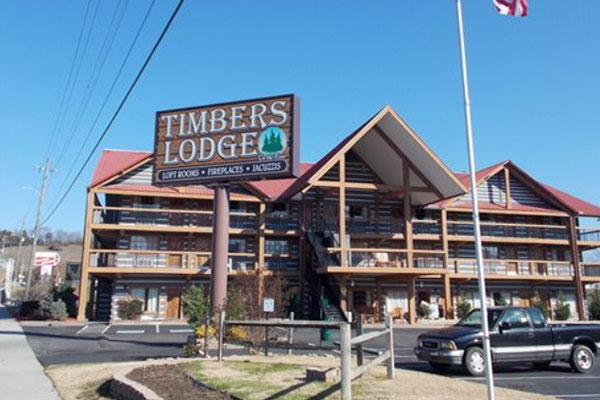 View Of The Front Timbers Lodge In Pigeon Forge Tn