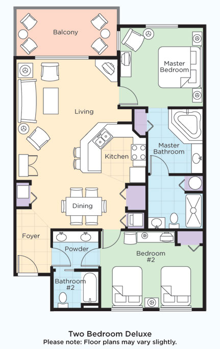 Wyndham smoky mountains suites and floor plans with pictures for Condo floor plans 2 bedroom