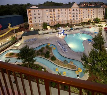 View from the Balcony looking over the Waterpark at the Resort at Governors Crossing