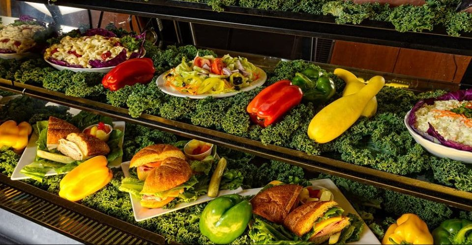 View different foods through the glass at the Marketplace Shopping at Westgate Smoky Mountain Resort
